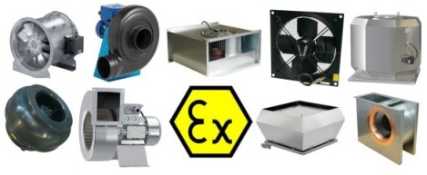 Explosion proof ATEX fans